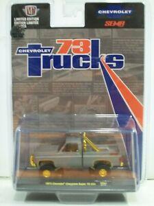 M2 Machines SEMA CHASE 1973 Cherolet Cheyenne Super 10 4x4 Pickup truck1/300
