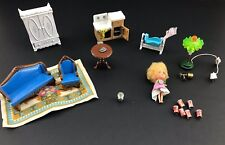 VTG 80s  MATTEL The LITTLES Doll & furniture lot DieCast Kiddles Miniature House