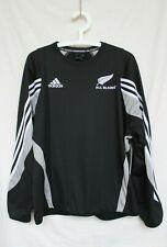 Rare 2000s Adidas New Zealand All Blacks Rugby Sweatshirt Black Size L Large