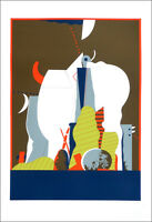 Karl KORAB Austrian Vintage 1976 Silkscreen Art Print 23 x 16