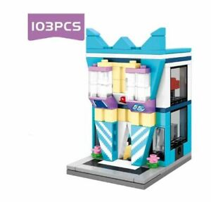Mini City 103 PCS Building block Toys Street Architecture