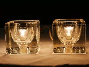 2 Tischlampen von Peill & Putzler 1960er 1970er Nachttischlampen vintage