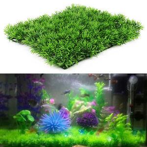 5XArtificial Fake Water Fish Tank Aquatic Grass Turf Beautiful Decor Aquarium UK
