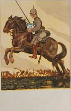 29039 Bahlsen Keks Werbe AK Soldat Reiter Ulane mit Keksdose 1915 Künstlerkarte