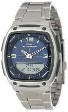 Casio AW81D-2A Data Bank Stainless Steel Digital Analog 10 Year Battery