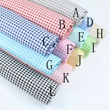 Pretty 0.5cm Gingham ChecKed 100%cotton fabric Quilting Cloth Bedding Sewing DIY