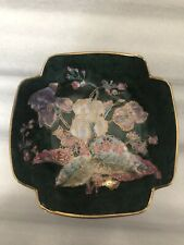 Marbled Green And Floral Decorative Dish