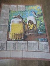 calendrier tissus alsace chope de bière ,1972 (cp1)