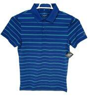 NEW Bonobos MAIDE Slim Fit Short Sleeve Golf Polo Striped Shirt Mens Medium Blue