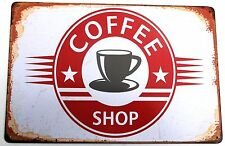 COFFEE SHOP METAL TIN SIGNS vintage cafe pub bar garage decor