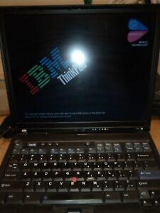 IBM Thinkpad T42 Laptop, for parts or repair