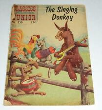 Vintage Classics Illustrated Junior 550 The Singing Donkey Comic Book Low Grade