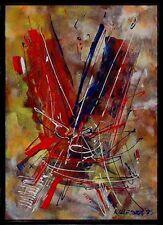Moderne Kunst Jozef Kulesza  *1920  Warschau, datiert 1995, verzeichnet Ananke x