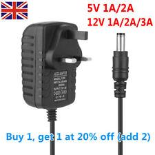 UK Plug 5V 12V 1A 2A 3A AC/DC Adapter Charger Power Supply Mains Transformer