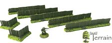 Wargames Scenery Terrain 28mm Resin Rural Fences - UNPAINTED. Bolt Action.