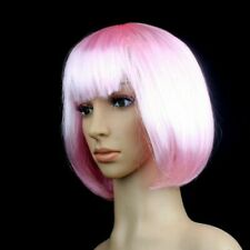 15 Colors Women Lady Short Straight Hair Full Wigs Cosplay Party Bob Hair Wig US