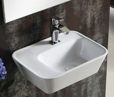 Lux-aqua Keramik Waschtisch Waschbecken handwaschbecken zur Wandmontage 40195C