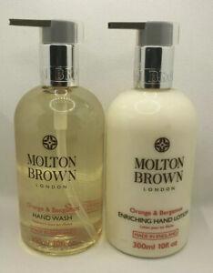 Molton Brown Orange & Bergamot Hand Wash & body Lotion 300ml Set