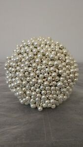 Beautiful Pearl and Brooch Bouquet. Ivory Pearl Bouquet.