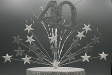Glittered Stars Cake Topper Decoration Spray Birthday 40th 50th 60th 70th 005