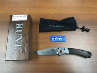 "Benchmade 15085-2 Hunt Mini-Crooked River 3."" AXIS Lock Dymondwood Folding Knife"