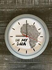 Africa Fingerprint IN MY DNA Modern Vinyl Wall Clock Decor Art
