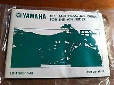 Yamaha Manual Tips & Practice Guide For The ATV Rider 64pgs