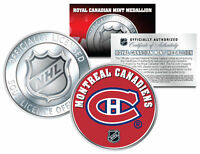 MONTREAL CANADIENS Royal Canadian Mint Medallion NHL Colorized Coin * LICENSED *