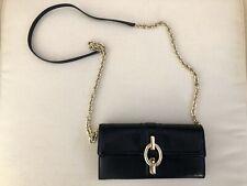 Diane Von Furstenberg Mixed Leather Crossbody Clutch Wallet - Black