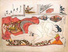 Repro Japanese Woodblock ' Shunga Style' Print - #017