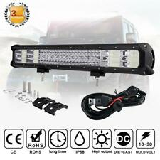 Quad Row 23Inch LED Light Bar Combo Offroad Driving+Free Wire Kit Fit for Toyota