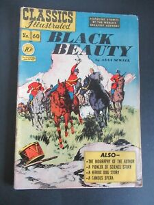 CLASSICS ILLUSTRATED #60 BLACK BEAUTY 1st ED HRN 62 JUNE 1946 COMIC -- HIGH CV