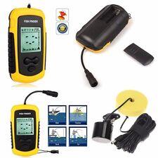 Portable 100m LCD Sonar Sensor Fish Finder Fishfinder Alarm Beam Transducer SP