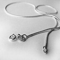 1.2 mm Solid .925 Sterling Silver Strong Snake Chain Necklace Anklet Bracelet