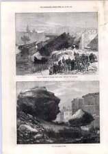 1872 Railway Accident Antibes Cannes Rockfall Nice