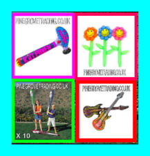 20 MIXED INFLATABLE TOYS GUITAR DOLPHIN HAMMER SWORDS