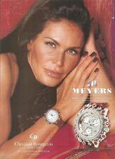 PUBLICITE ADVERTISING Montre MEYERS Swiss Made 2003 par MOUNA AYOUB       130112