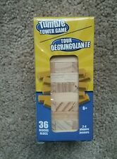 Tumble Tower Stacking Game FALL WOOD Blocks TUMBLING 36 Pieces Mini RARE