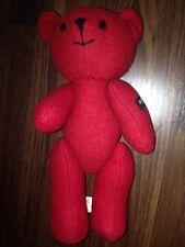 Agnis B Teddybär Dunkelrot Red Bear Kuschelteddy Plüschtier Stofftier Schurwolle
