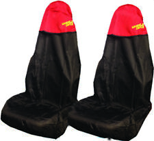Car Seat Cover Waterproof Nylon Front Pair Protector RED fits Peugeot All Models