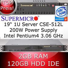 1U/1HE SUPERMICRO SERVEUR INTEL PENTIUM4 3.06GHz 2GB RAM 120GB Disque dur