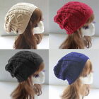 Fashion Womens Ladies Warm Winter Knit Crochet Xmas Ski Cap Beanie Beret Hat FSS