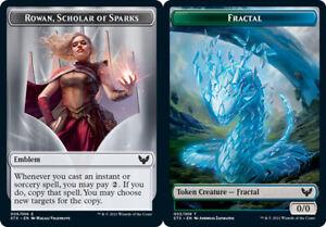 1x Emblem - Rowan, Scholar of Sparks (009) // Fractal (003) Token - FOIL MTG Str