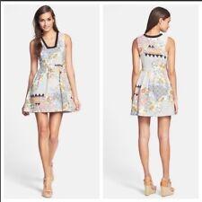 Anthropologie line & dot fit flare floral dress 2