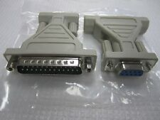 DB25 Male 25-Pin to DB9 Female 9-Pin Serial Adapter
