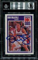 SUNS DAN MAJERLE signed autographed 1989-90 FLEER RC ROOKIE CARD BECKETT (BAS)
