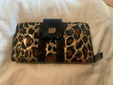 Black And Gold Animal Print Hello Kitty Wallet