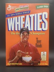 1999 Tiger Woods Wheaties Cereal Box - Unopened