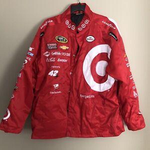 Kyle Larson #42 2014 Rookie Season Target Racing Jacket Chase Authentics SZ 3XL