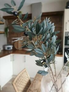 Faux Olive Branch Artificial Stem With Small faux Olives Realistic Single Stem